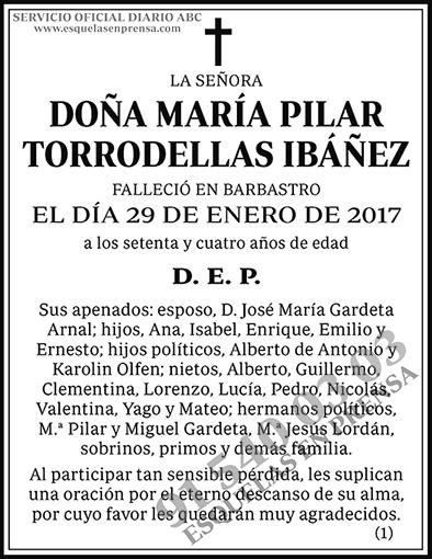 María Pilar Torrodellas Ibáñez